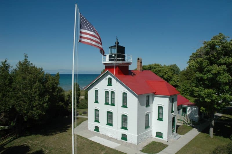 The grand traverse lighthouse is a great part of the music, arts, and cultural scene