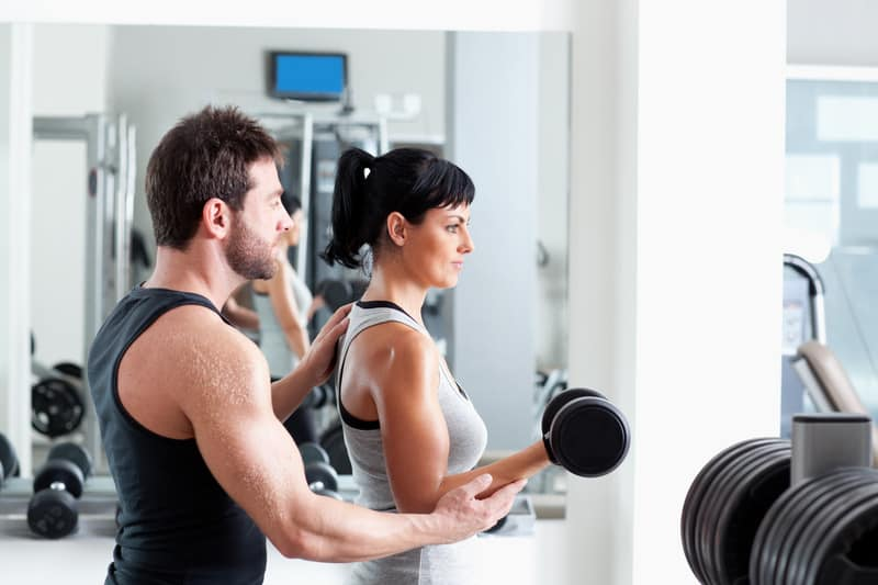 the offsite fitness club has personal training for those that want it